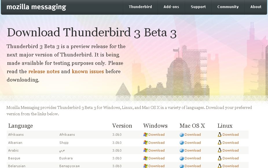 thunderbird3b3-downloadpage