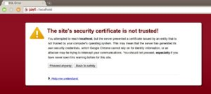 SSL-not-trusted-error