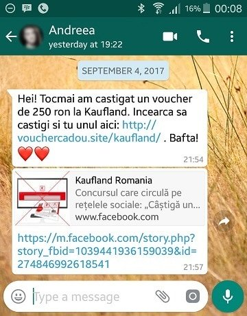 Scam WhatsApp